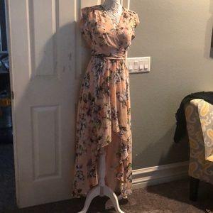Beautiful light pink Eliza J maxi dress.